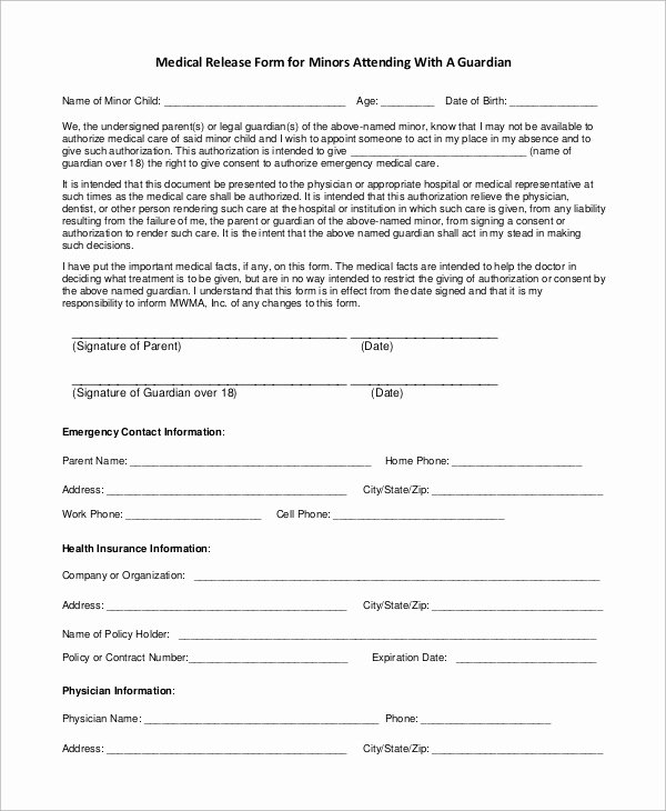 Work Release form From Hospital Beautiful Sample Medical Release form 9 Examples In Pdf