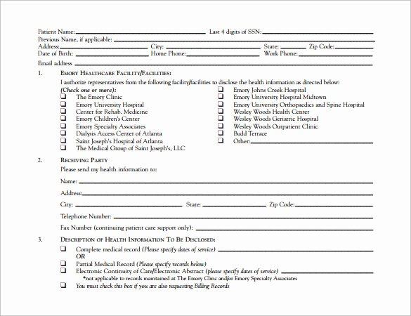 Work Release form From Hospital Elegant Sample Hospital Release form 11 Download Free Documents