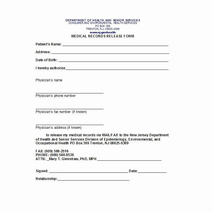 Work Release form From Hospital New 30 Medical Release form Templates Free Template Downloads