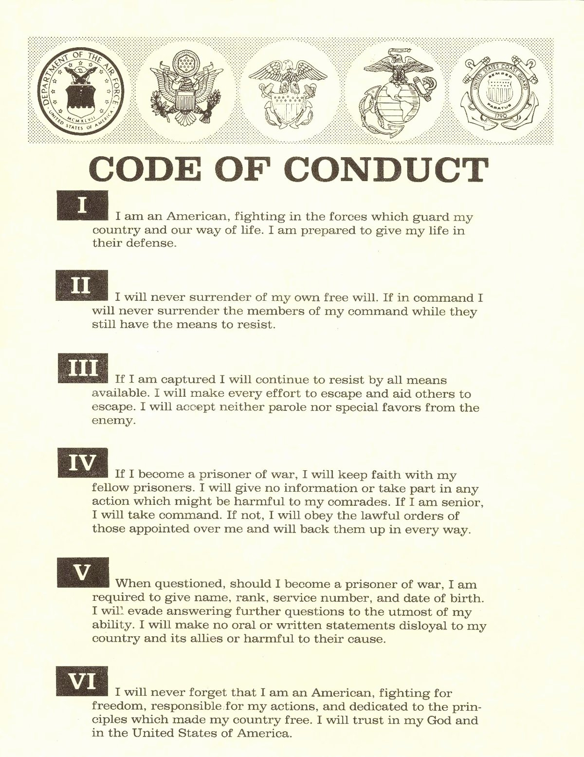 Workplace Code Of Conduct Template Luxury Code Of the United States Fighting force