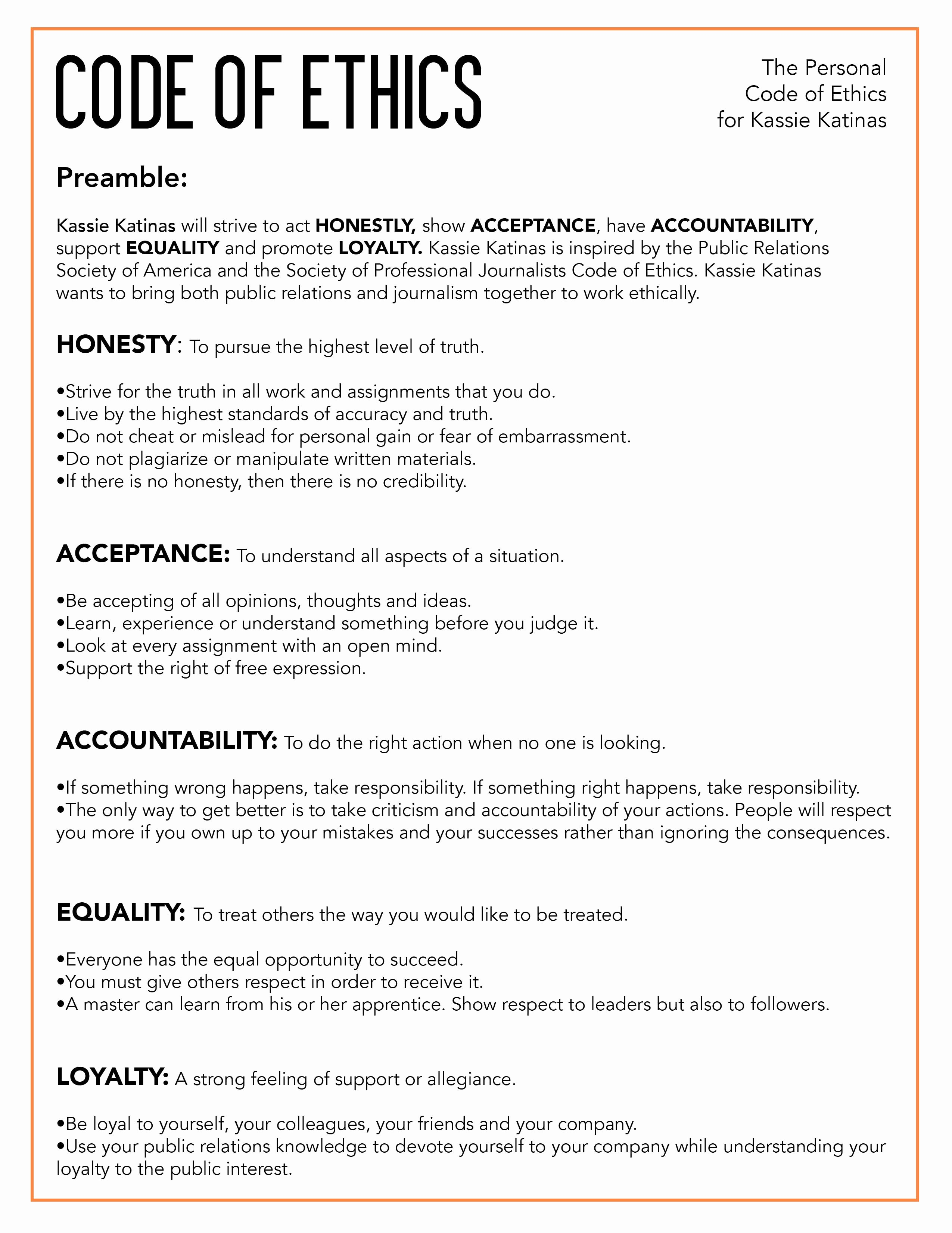 Workplace Code Of Conduct Template New Graphic Design – Kassie Katinas