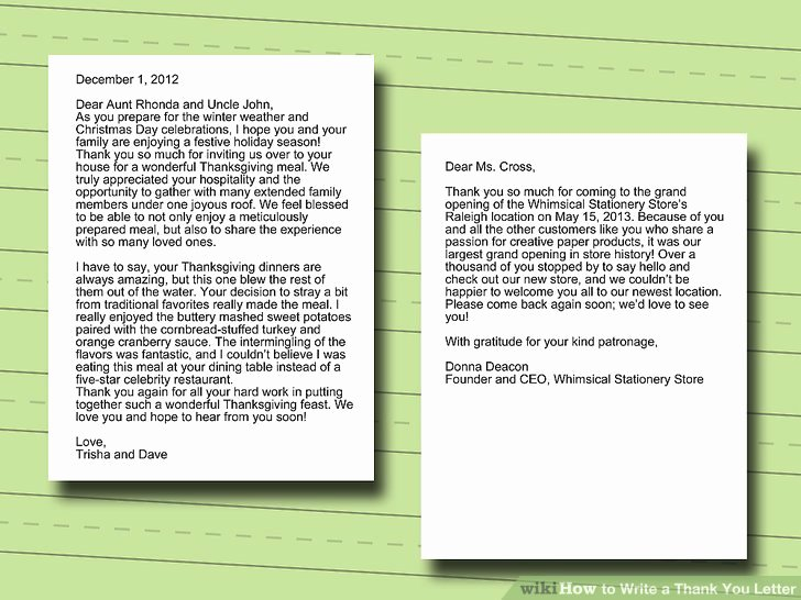 Write A Thank You Letter New How to Write A Thank You Letter with Sample Letters