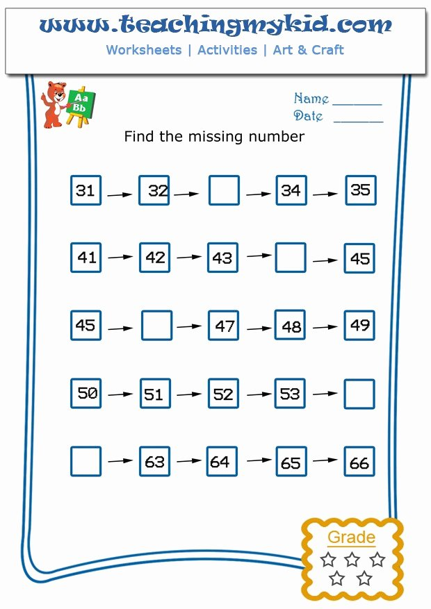 Write the Missing Number Fresh Write the Missing Number 2 Worksheet 6 Teaching My Kid