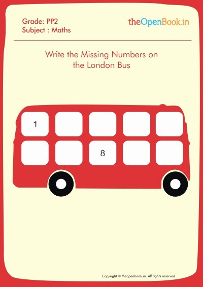 Write the Missing Number Inspirational Printable Worksheets for Kids Cbse