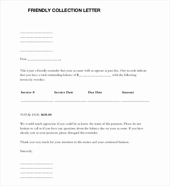 Writing A Collection Letter Fresh 49 Friendly Letter Templates Pdf Doc