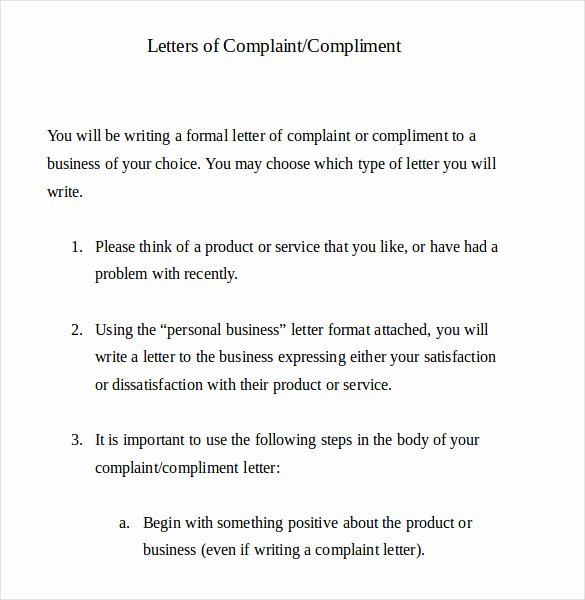 Writing A Complaint Letter Awesome 19 Letter Of Plaint Templates Doc Pdf