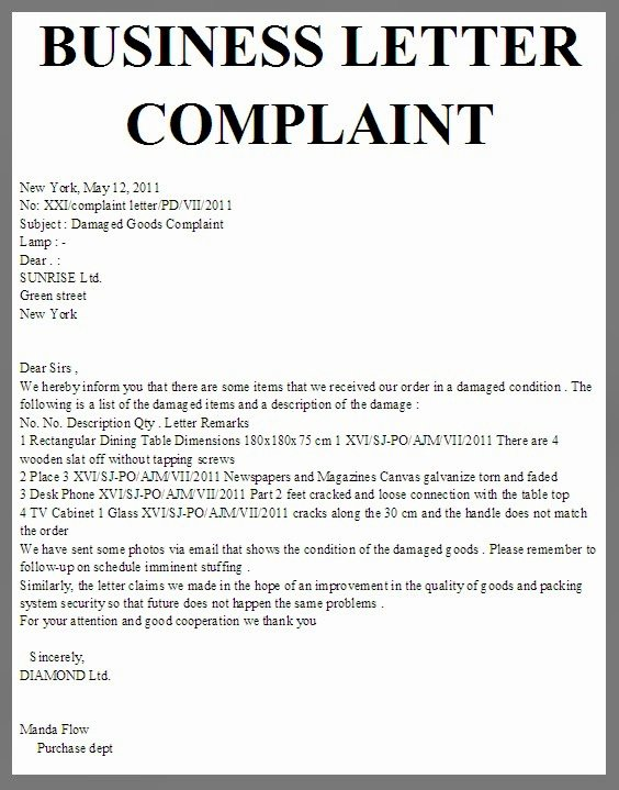 Writing A Complaint Letter Best Of Business Letter Business Letter Plaint
