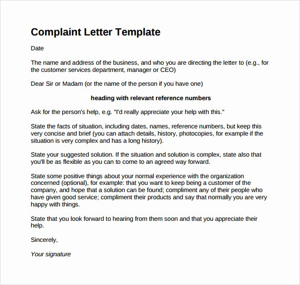 Writing A Complaint Letter Lovely Free 17 Sample Plaint Letters In Google Docs