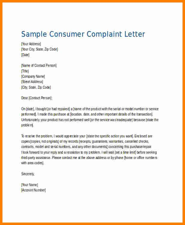 Writing A Complaint Letter Unique 8 Plaints Letter Samples