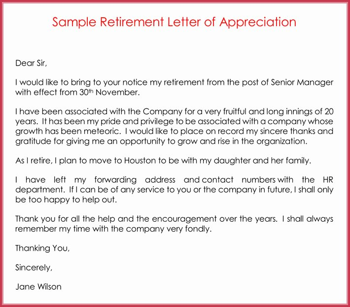 Writing A Retirement Letter Beautiful Retirement Letter Samples Examples formats & Writing Guide