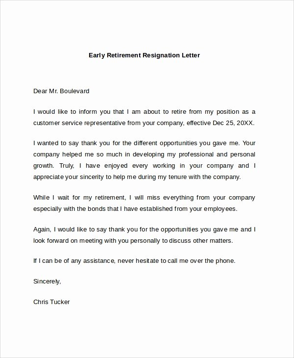 Writing A Retirement Letter Fresh Sample Retirement Resignation Letter 9 Documents In Pdf