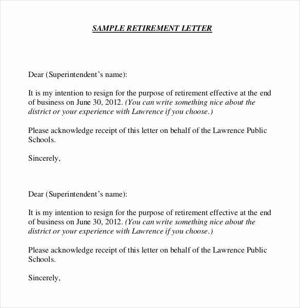 Writing A Retirement Letter New 36 Retirement Letter Templates Pdf Doc