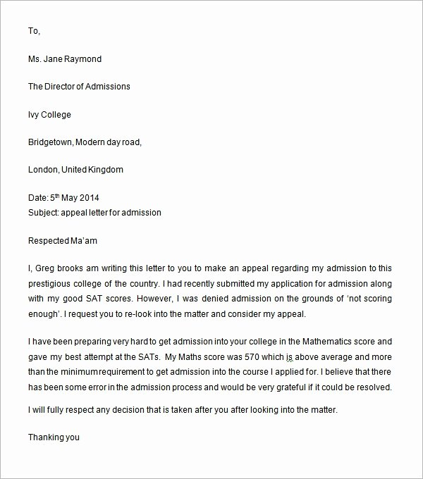 Writing An Appeal Letter Awesome Sample Appeal Letter 11 Free Documents Download In Word