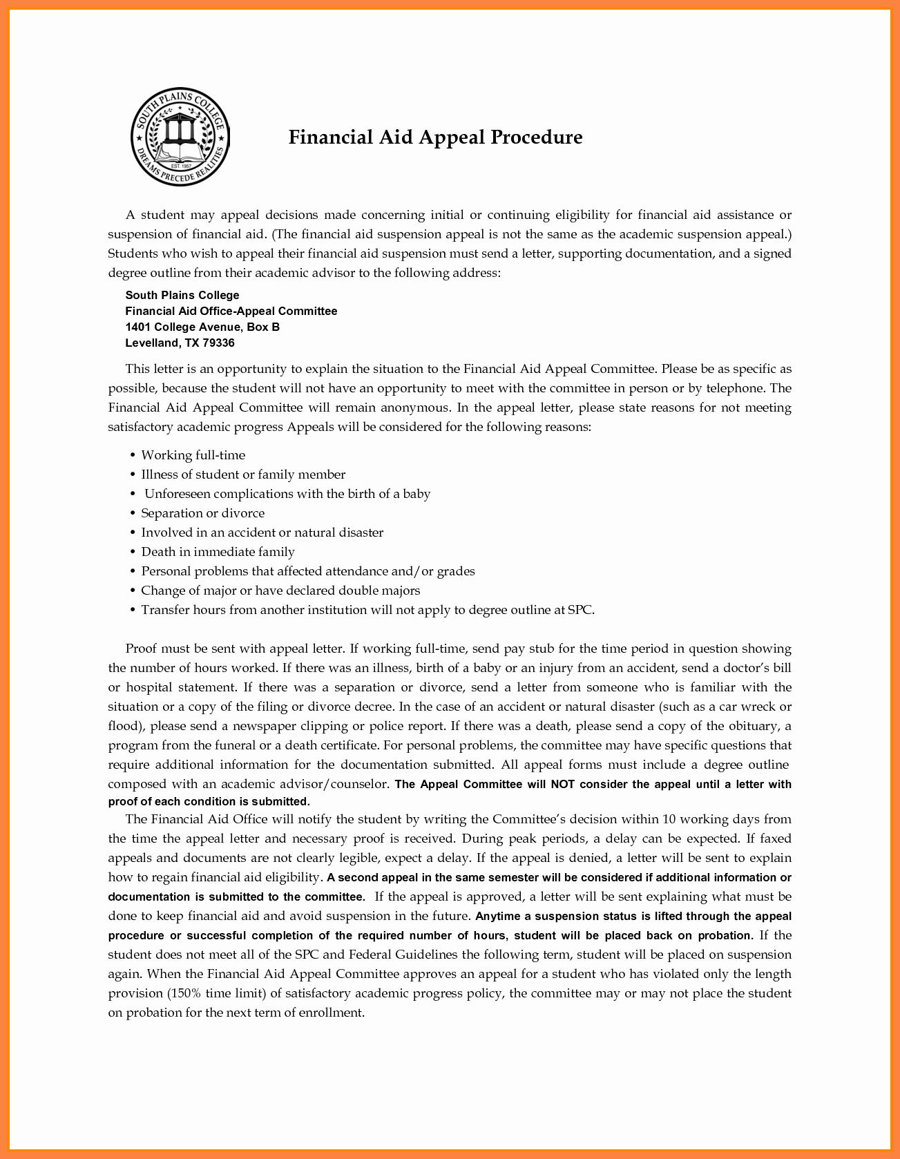 Writing An Appeal Letter Elegant 7 Sap Appeal Letter