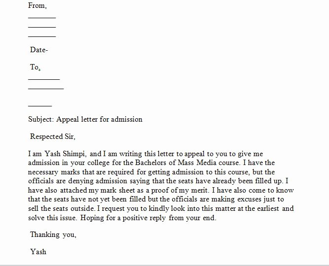 Writing An Appeal Letter Lovely Sample Appeal Letter How Write An Appeal Letter that Will
