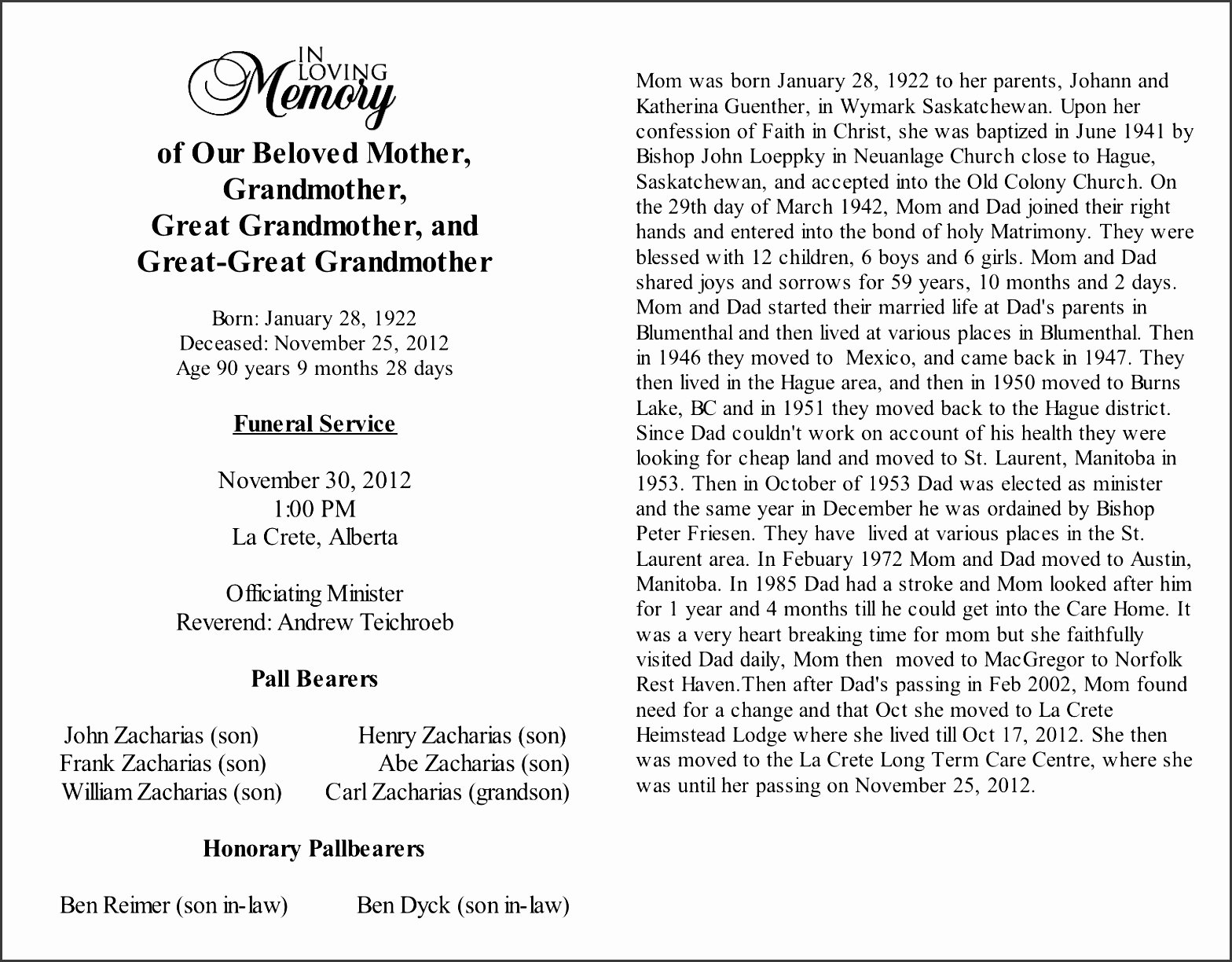 Writing An Obituary for Mom Inspirational 9 Obituary Template Sampletemplatess Sampletemplatess