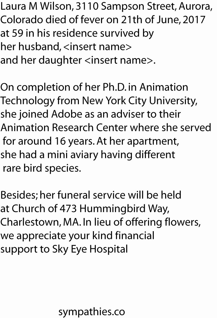 Writing An Obituary for Mom Unique Best Obituary Examples and Free Templates format for