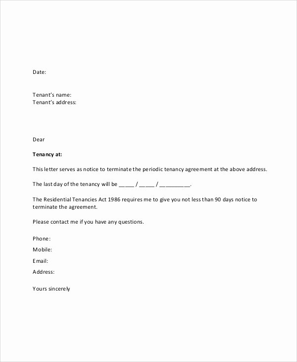 Written Notice Of Termination Awesome Sample Lease Termination Letter 7 Documents In Pdf Word
