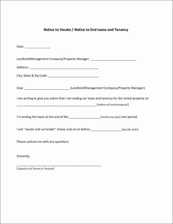Written Notice Of Termination Elegant Free 10 Tenancy Notice Samples & Templates In Pdf