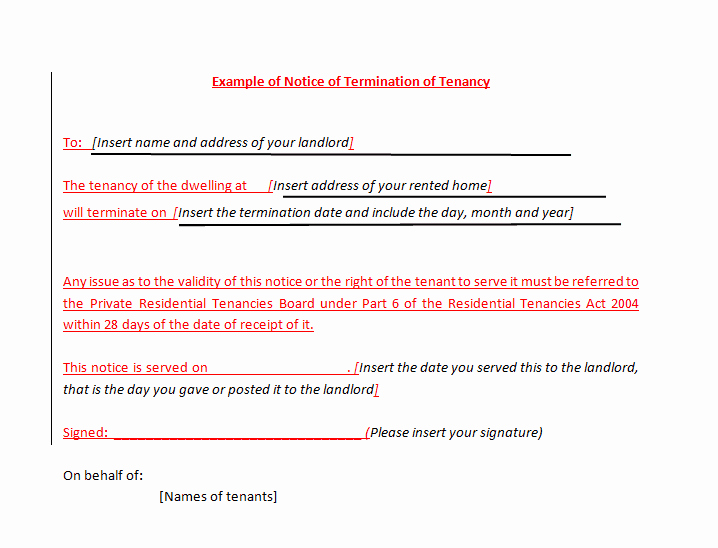 Written Notice Of Termination Fresh 45 Eviction Notice Templates & Lease Termination Letters