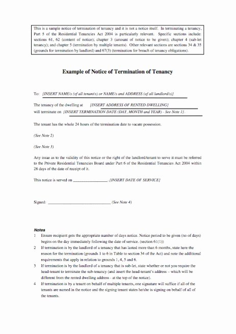 Written Notice Of Termination Unique 47 Eviction Notice Templates & Sample Letters Free