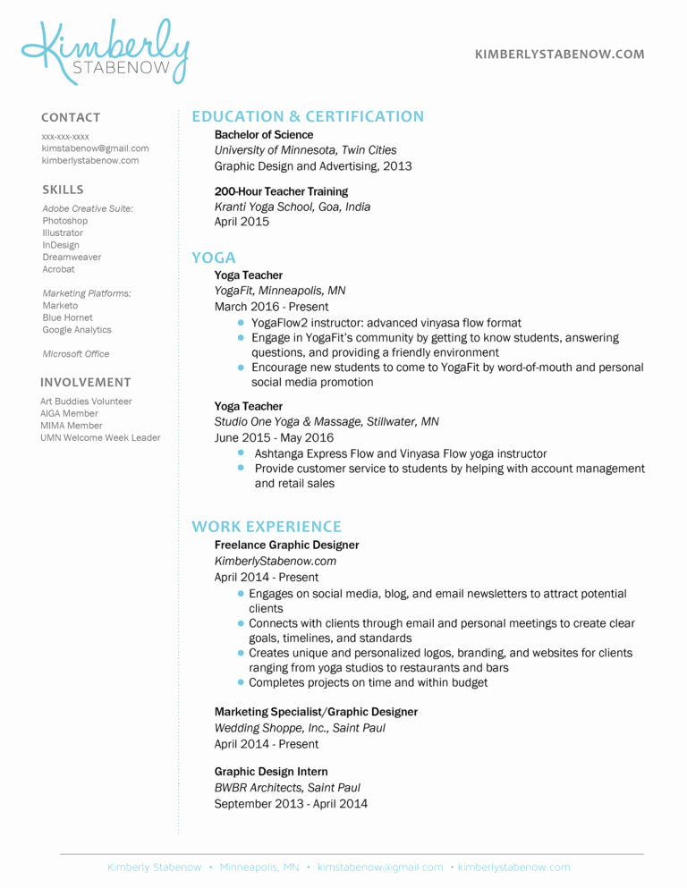 Yoga Teacher Resume Sample Best Of Resume Examples 2013