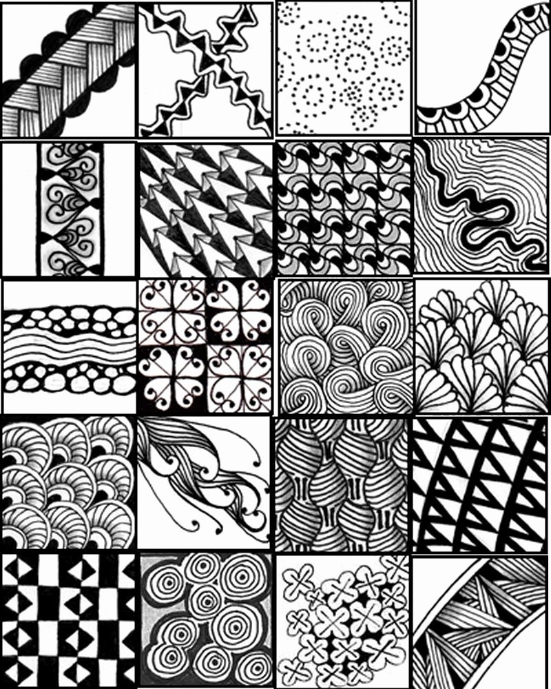 Zentangle Patterns to Print Awesome 1000 Ideas About Doodle Patterns On Pinterest