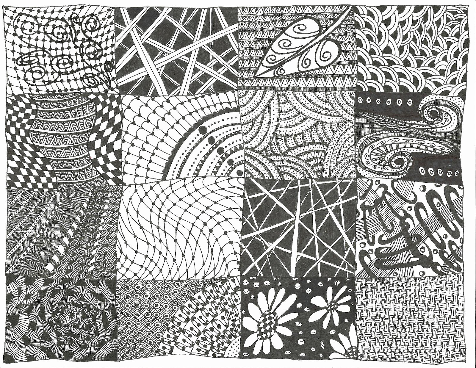 Zentangle Patterns to Print Beautiful All Things Parchment Craft Zendoodle Sampler Zentangle