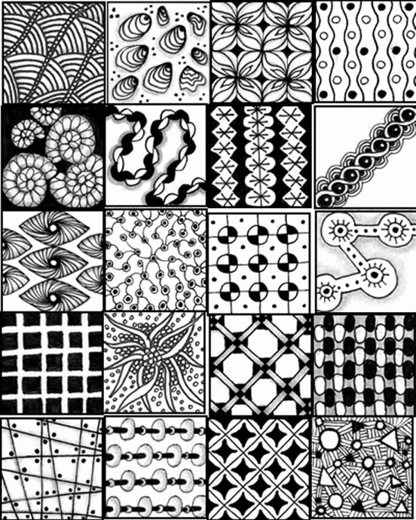 Zentangle Patterns to Print Beautiful Printable Sheets to Serve as A Quick Reference for