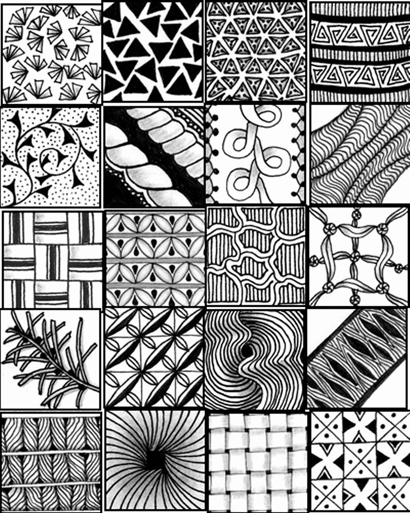 Zentangle Patterns to Print Elegant Go Craft something