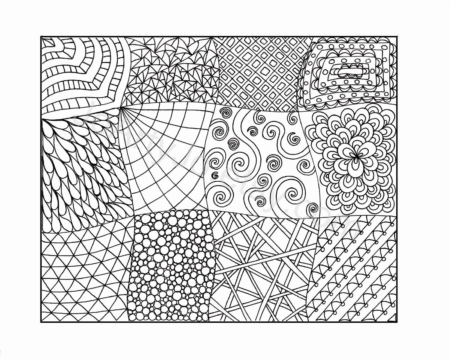 Zentangle Patterns to Print Elegant Zendoodle Coloring Page Printable Pdf Zentangle Inspired