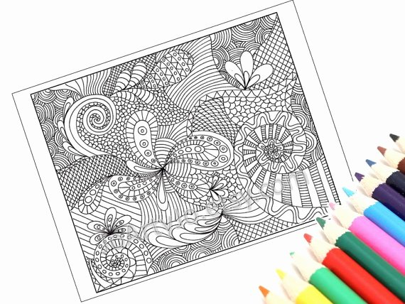 Zentangle Patterns to Print Inspirational Paisley Coloring Page Printable Zentangle Inspired Instant