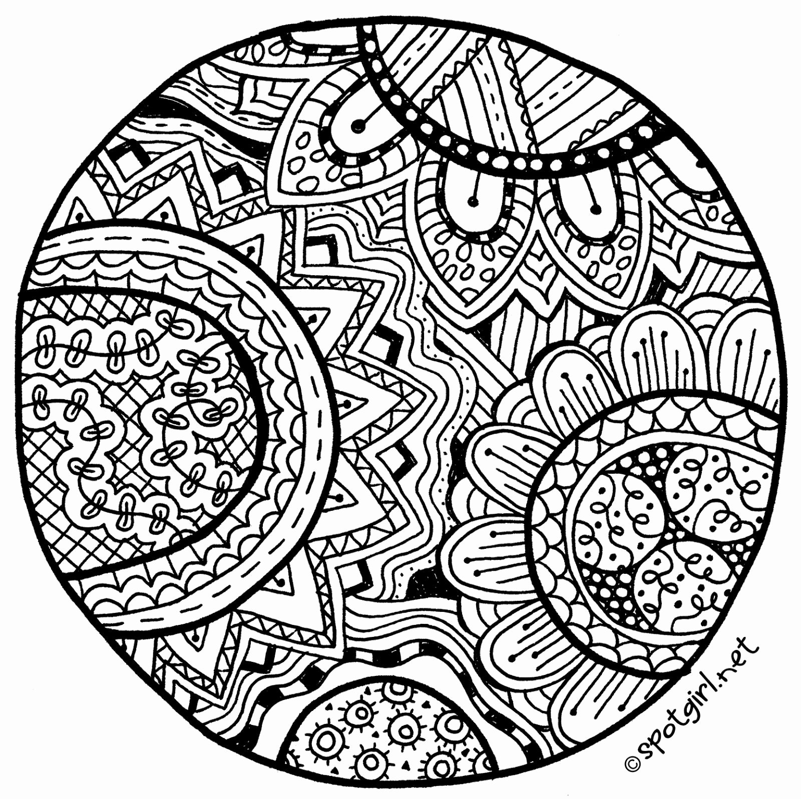 Zentangle Patterns to Print Lovely Zentangle Medallion Printable From Spotgirl Hotcakes