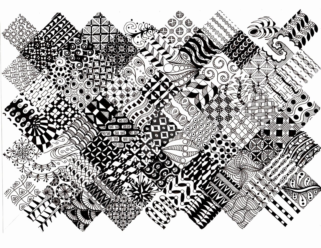Zentangle Patterns to Print Luxury Easy Zentangle Patterns for Beginners