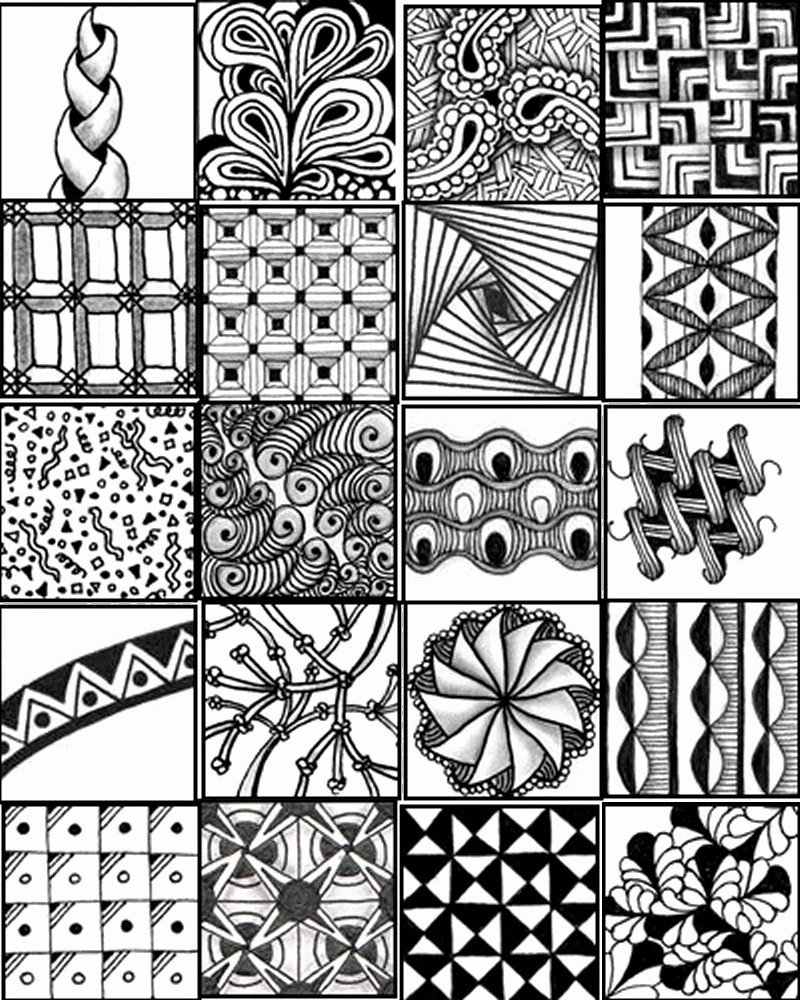 Zentangle Patterns to Print Luxury Go Craft something