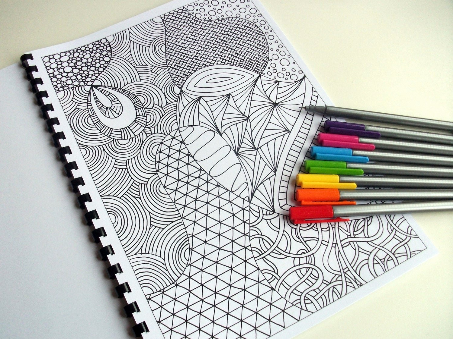 Zentangle Patterns to Print Luxury Zentangle Inspired Coloring Page Printable Pdf Zendoodle