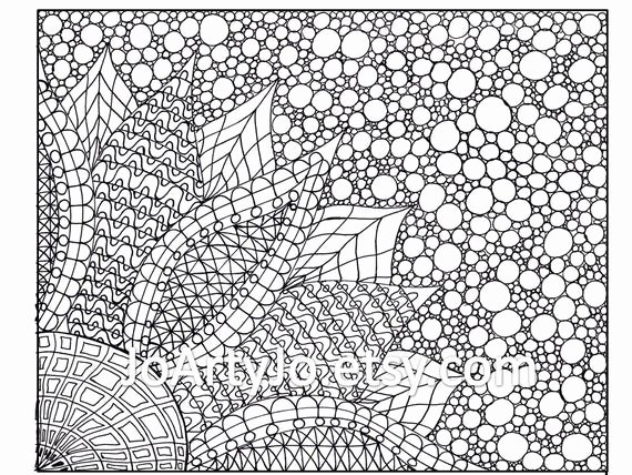 Zentangle Patterns to Print Unique Coloring Page Zentangle Inspired Flower Printable Page 2