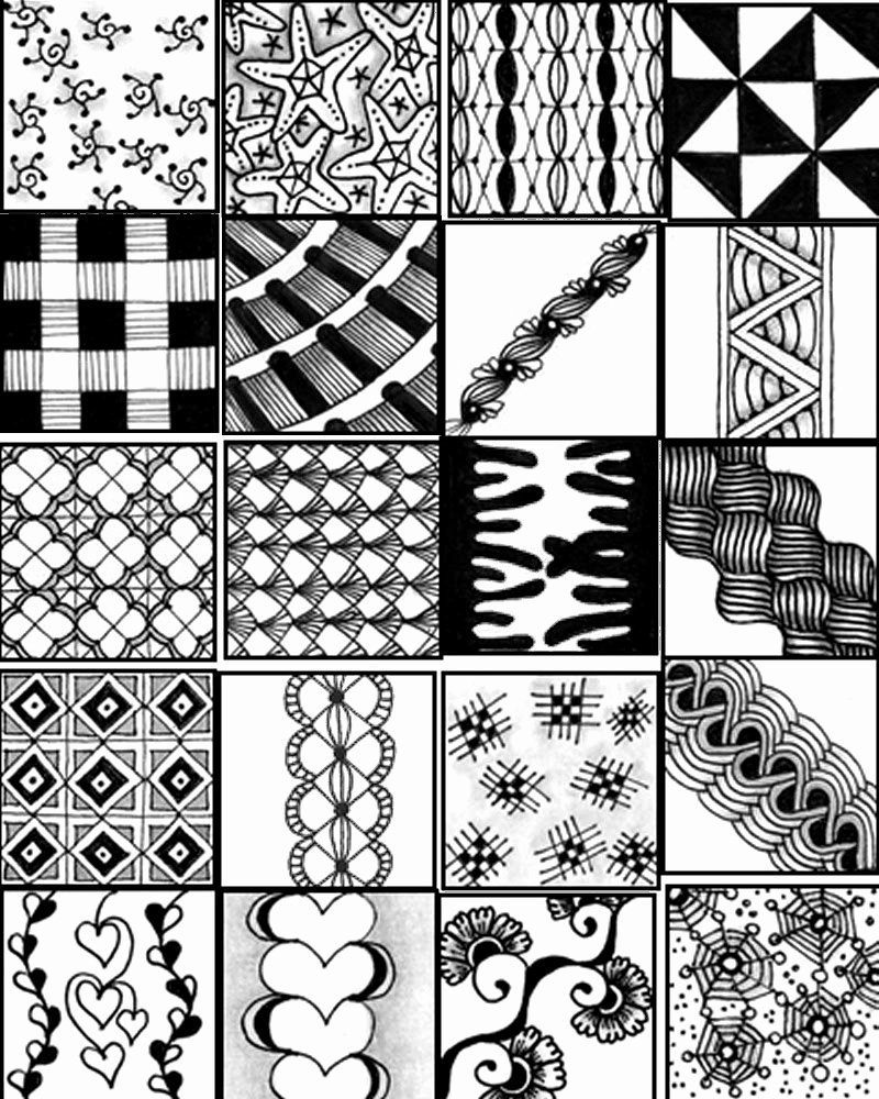 Zentangle Patterns to Print Unique Go Craft something